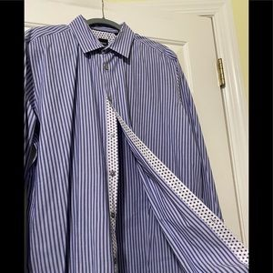 Hugo Boss Designer purple dress shirt XL